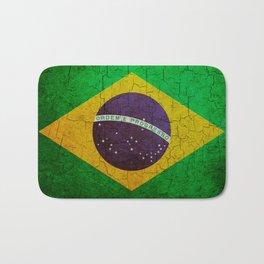 Cracked Brazil flag Bath Mat