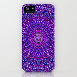 Lace Mandala in Purple and Blue iPhone Case