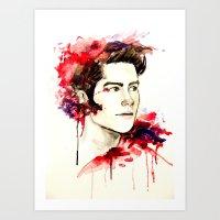 stiles Art Prints featuring Stiles Stilinski  by Sterekism
