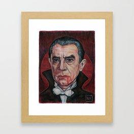 DRACULA BLOOD MOON RISING Framed Art Print