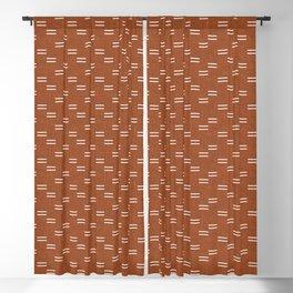double dash - burnt orange Blackout Curtain