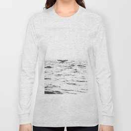 WHITE - SEA - WAVES - WATER - WHALE - NATURE - ANIMAL - PHOTOGRAPHY Long Sleeve T-shirt