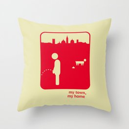 My town, my home Throw Pillow
