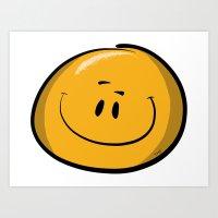 Smile Boy Art Print