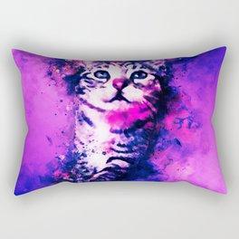 pianca baby cat kitten splatter watercolor purple pink Rectangular Pillow