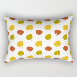 Autumn pattern with leaves on white background Rectangular Pillow