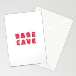Babe cave - Pink and yellow Stationery Cards
