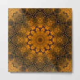 Black and yellowbrown kaleidoscope Metal Print