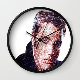 Elvis scrawled in crayon Wall Clock