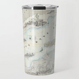 Vintage Map of The Great Salt Lake (1852) Travel Mug