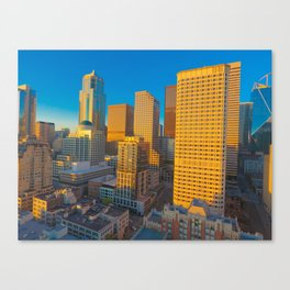 Downtown Seattle Skyline at Sunset 2 Canvas Print