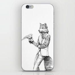 Gentleman Wolf iPhone Skin