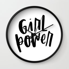 Girl Power 2 Wall Clock