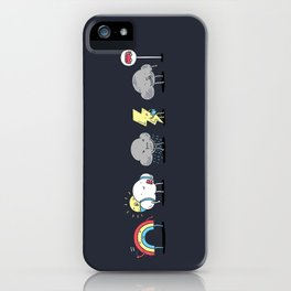There's always rainbow after the rain iPhone Case