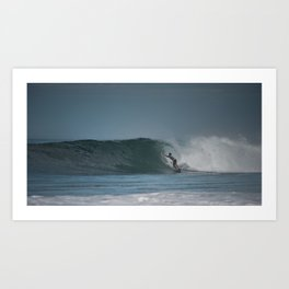 Pro Surfer in the pipe Art Print