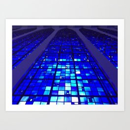 Shades of Heaven in Blue Art Print