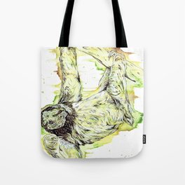 """The Couch Potato"" sloth watercolor design. Tote Bag"