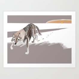 Totem Russian Wolf Art Print