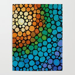 Blissful - Colorful Mosaic Art - Sharon Cummings Poster