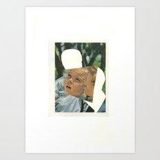 moleskin collage Art Print