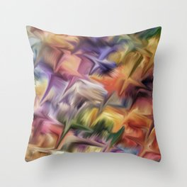 Color abstract background Throw Pillow