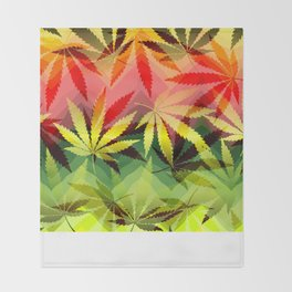 Marijuana Throw Blanket