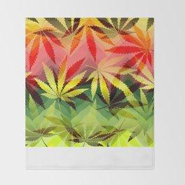 Marijuana Throw Blanket
