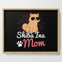 Shiba Inu Mom   Shiba Dog Owner Gift Serving Tray