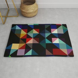 Ovinnik - Abstract Coloful Dark Diamond Shape Art Rug