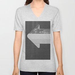 Arrow (Black and White) Unisex V-Neck