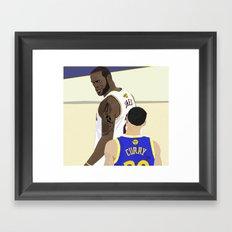 Cavs vs Warriors Framed Art Print