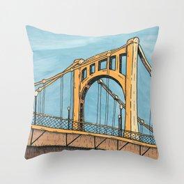 Roberto Clemente Bridge - Pittsburgh Throw Pillow