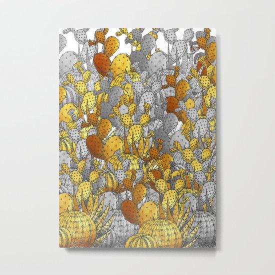 Metallic Desert Metal Print