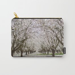 White Chery Blossom Tree Photography, California Blossom Orchard, Tree Tunnel Magic Carry-All Pouch