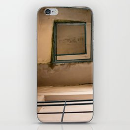 Bottom image of a staircase in an abandoned building iPhone Skin
