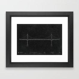 St. Johns Bridge — Darkprint Framed Art Print