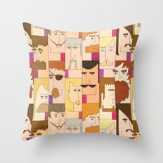 Men with beards Throw Pillow