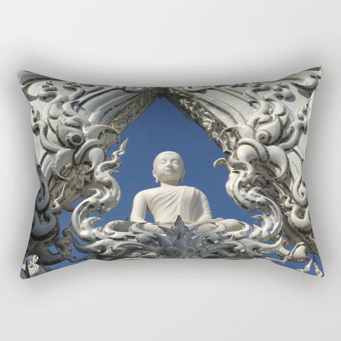 Wat Rong Kun1 Rectangular Pillow