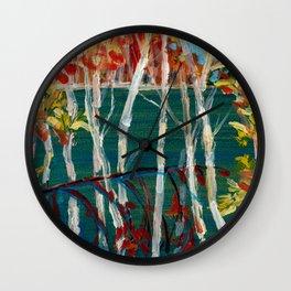 In the Northland / Dennis Weber / ShreddyStudio Wall Clock
