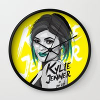 kardashian Wall Clocks featuring Kylie Jenner by Dik Low