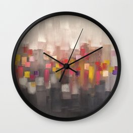 COLORFUL FACES - TwinTwos -by Rabih Ghanem Wall Clock