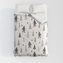 trees + yeti pattern Comforters