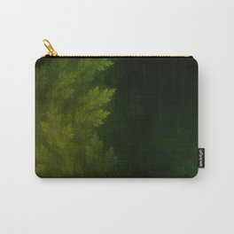 Beautiful Fractal Pines in the Misty Spring Night Carry-All Pouch
