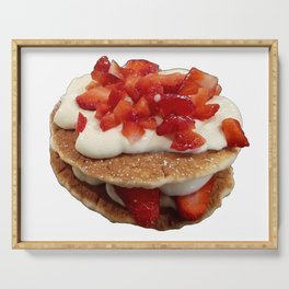 pancakes_strawberries_and_whip_cream Serving Tray