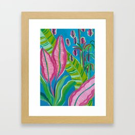 Pink Leaf Framed Art Print