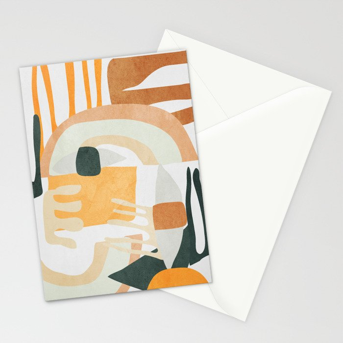 Abstract Art 10 Stationery Cards