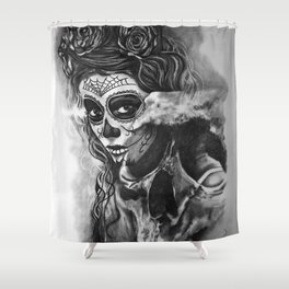 Skull1 Shower Curtain