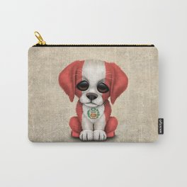 Cute Puppy Dog with flag of Peru Carry-All Pouch