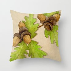 Quercus Robur Throw Pillow