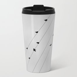 BIRDS ON A WIRE Travel Mug